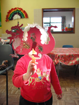Creating dragon puppets